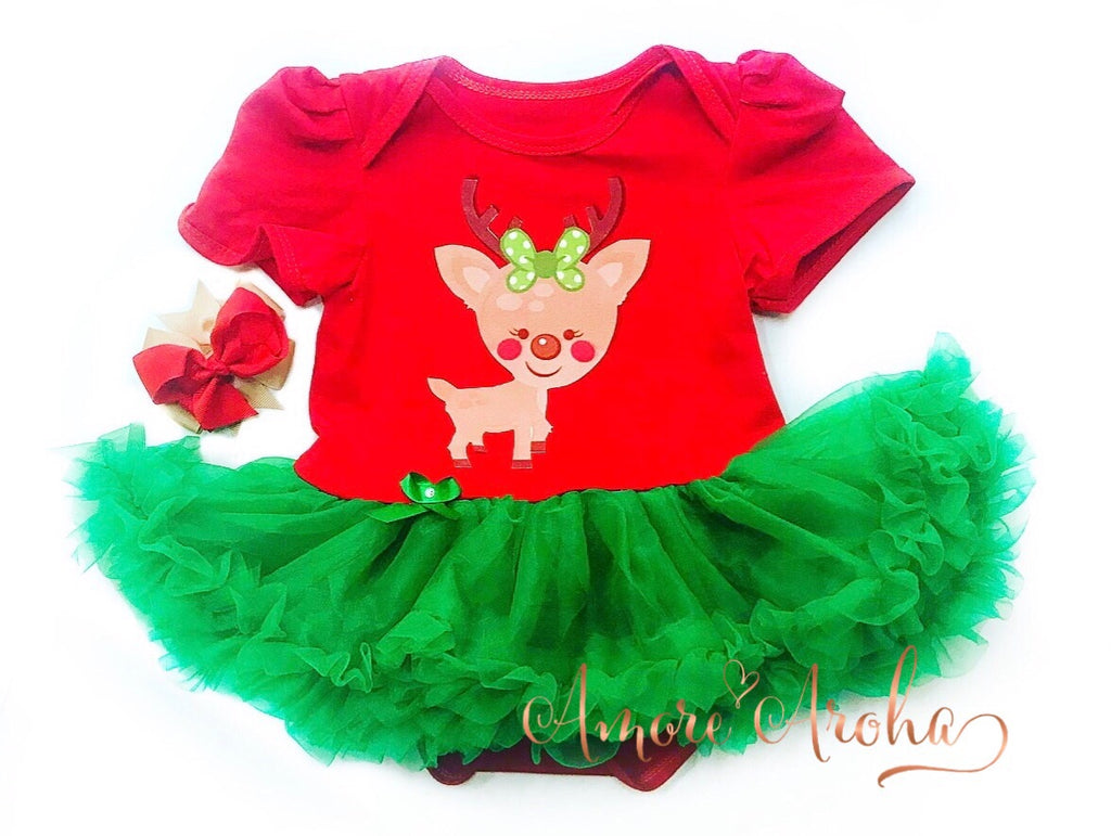 Christmas Tutu Romper 2pcs Set (size 0)