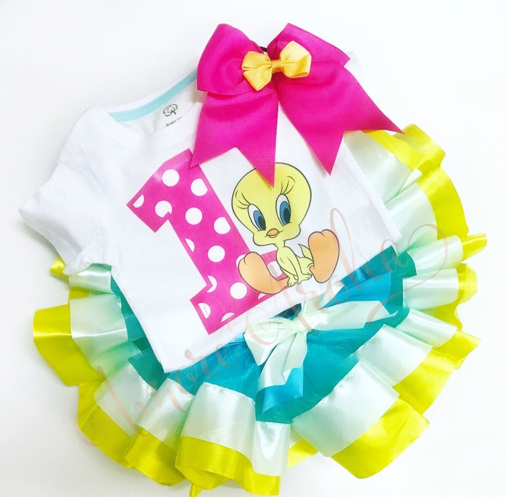 Tweety Bird 1st Birthday Tutu Set