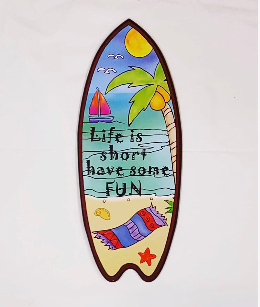 Surf Board Plaque