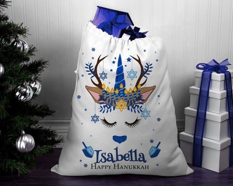 Personalised Unicorn Santa Sack