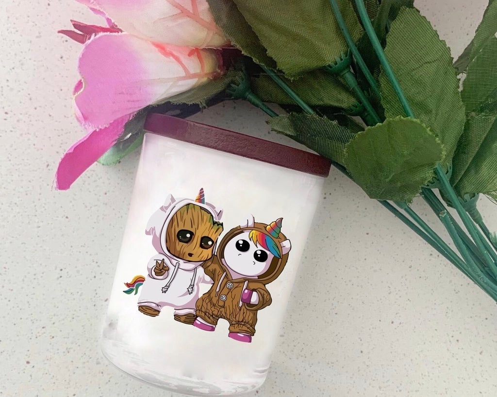 Groot/Unicorn Candle