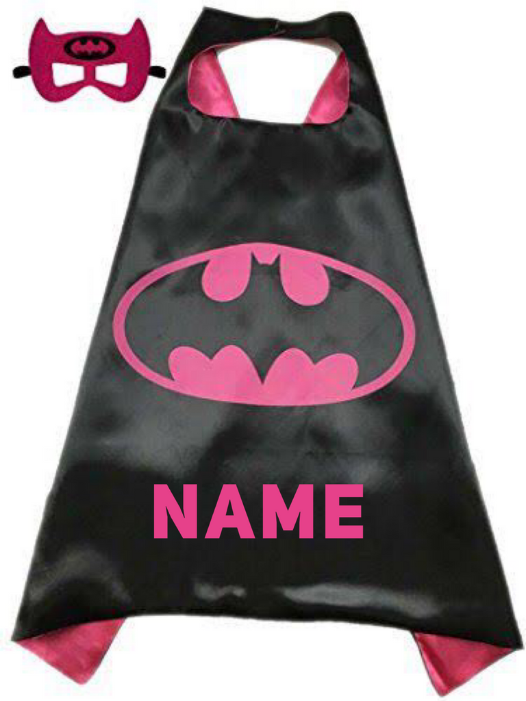 Personalised Cape and Mask Set - BatGirl