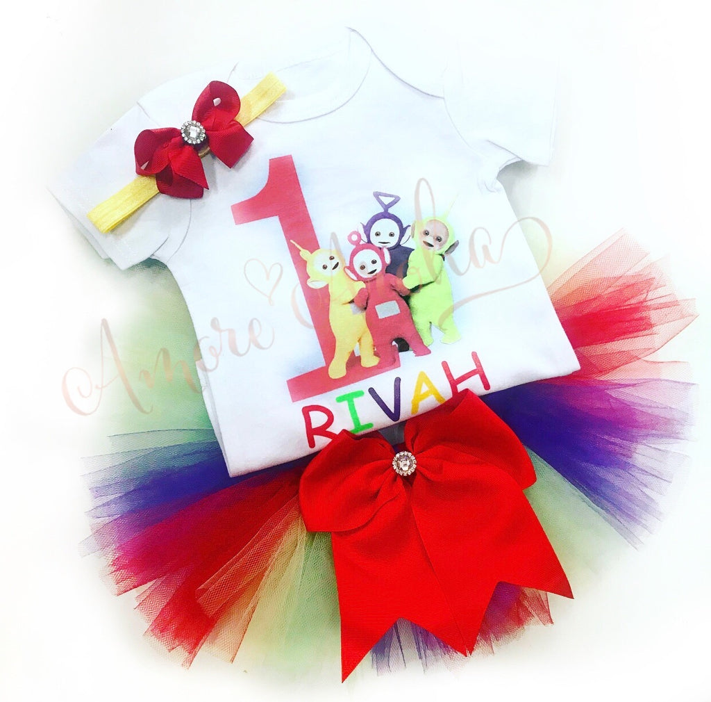 Teletubbies Birthday Tutu Set