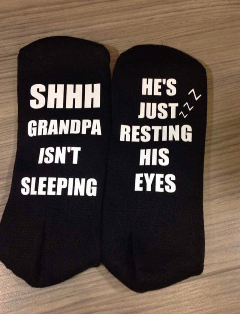 Resting His Eyes Socks