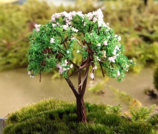 DIY Fairy Garden - Artificial Tree