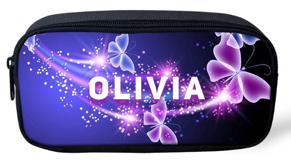 Personalised Pencil Case - Neon Butterfly
