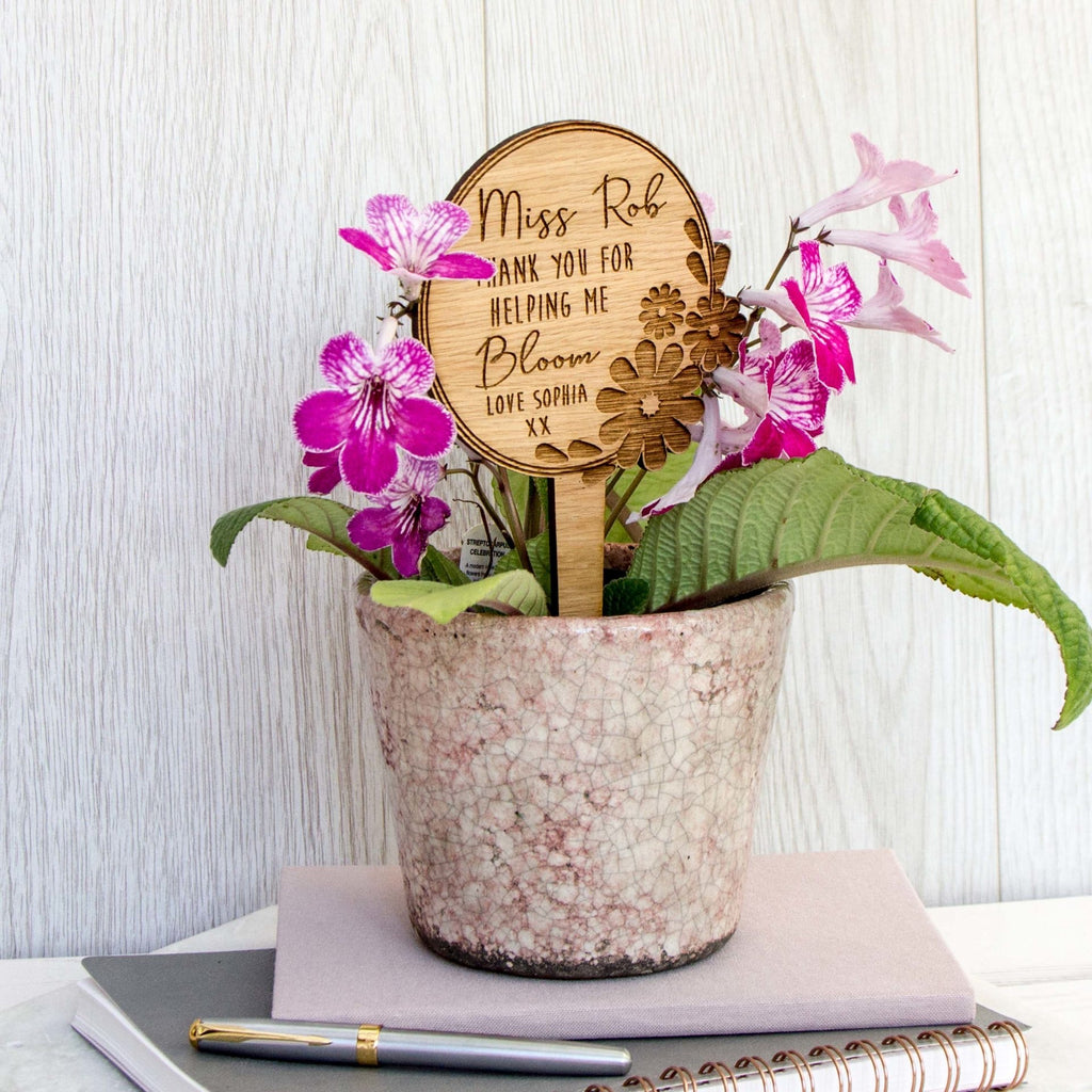 Teacher Flower Pot Sign