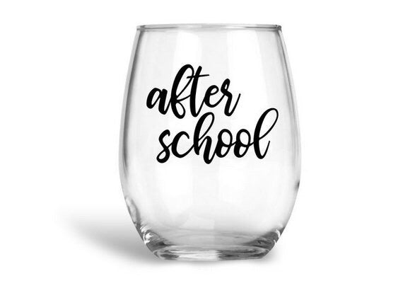 After School Stemless Wine Glass