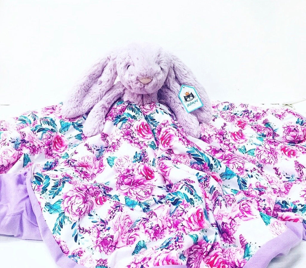 Cuddle Blanket - Purple Jellycat