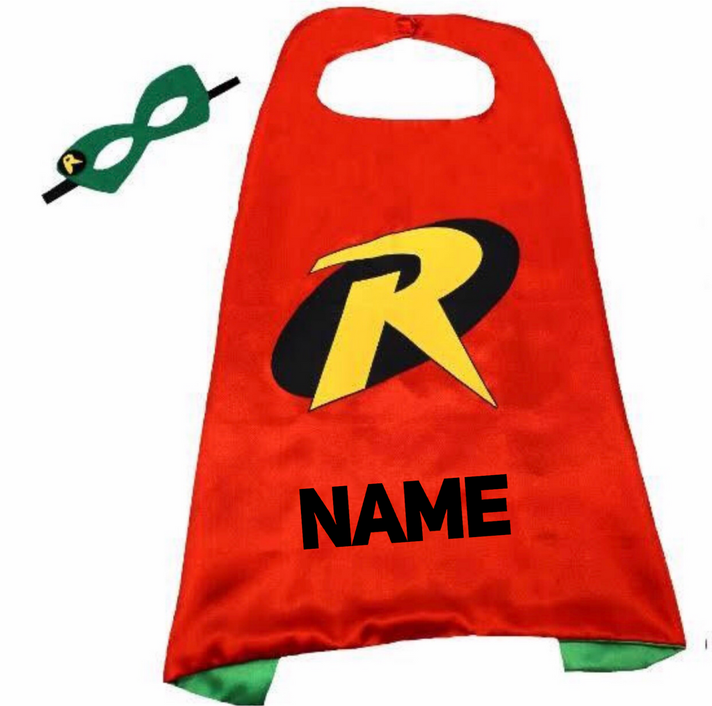 Personalised Cape and Mask Set - Robin