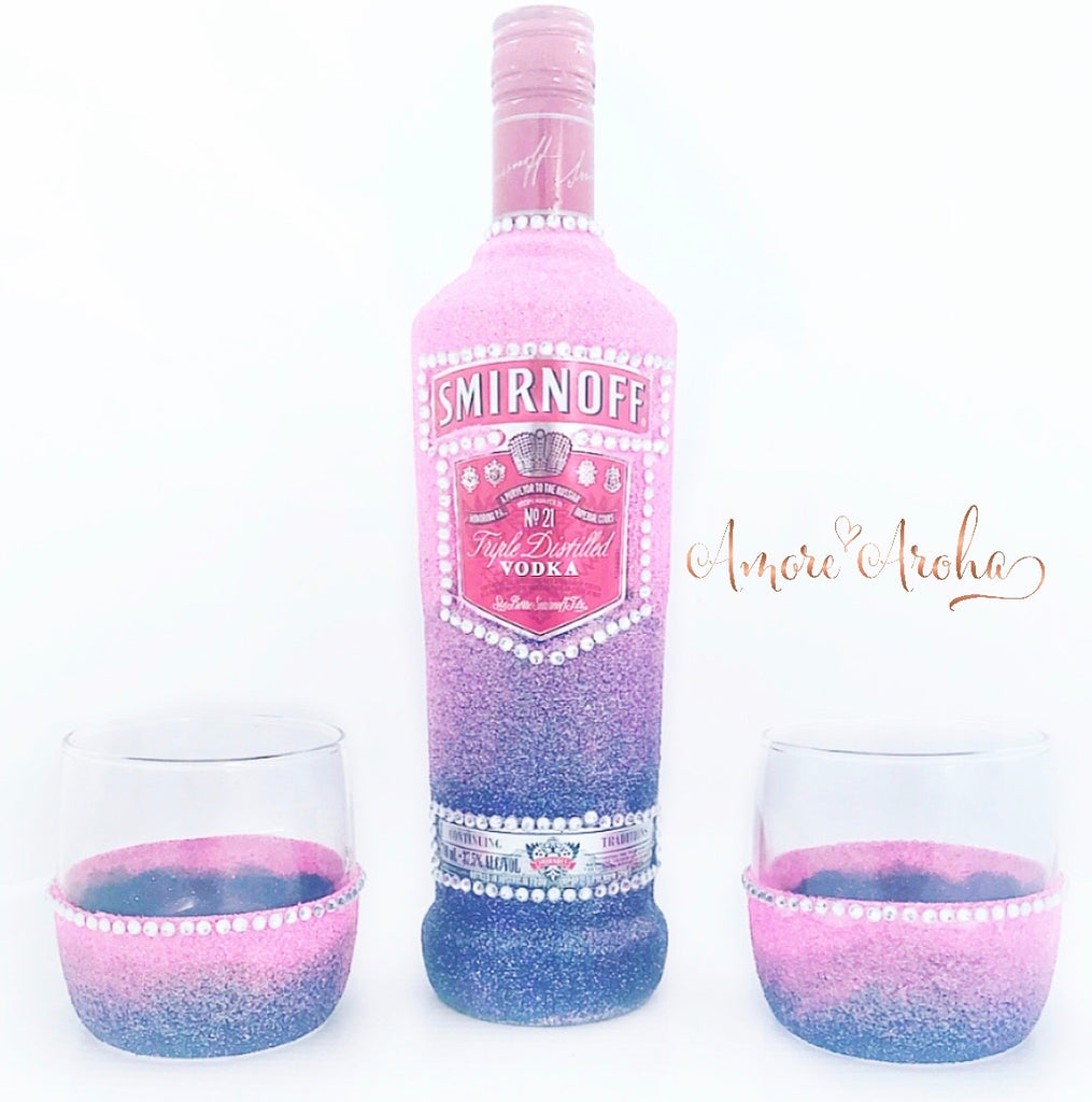 Smirnoff Vodka & Scotch Glass Set