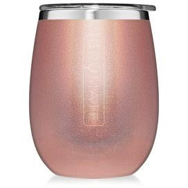 Wine Glass - Glitter Rose Gold