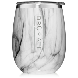 UNCORK'D XL 14oz Wine Glass by BrüMate | Carrara