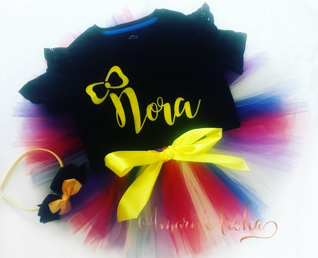 Personalised Bow Tutu Set