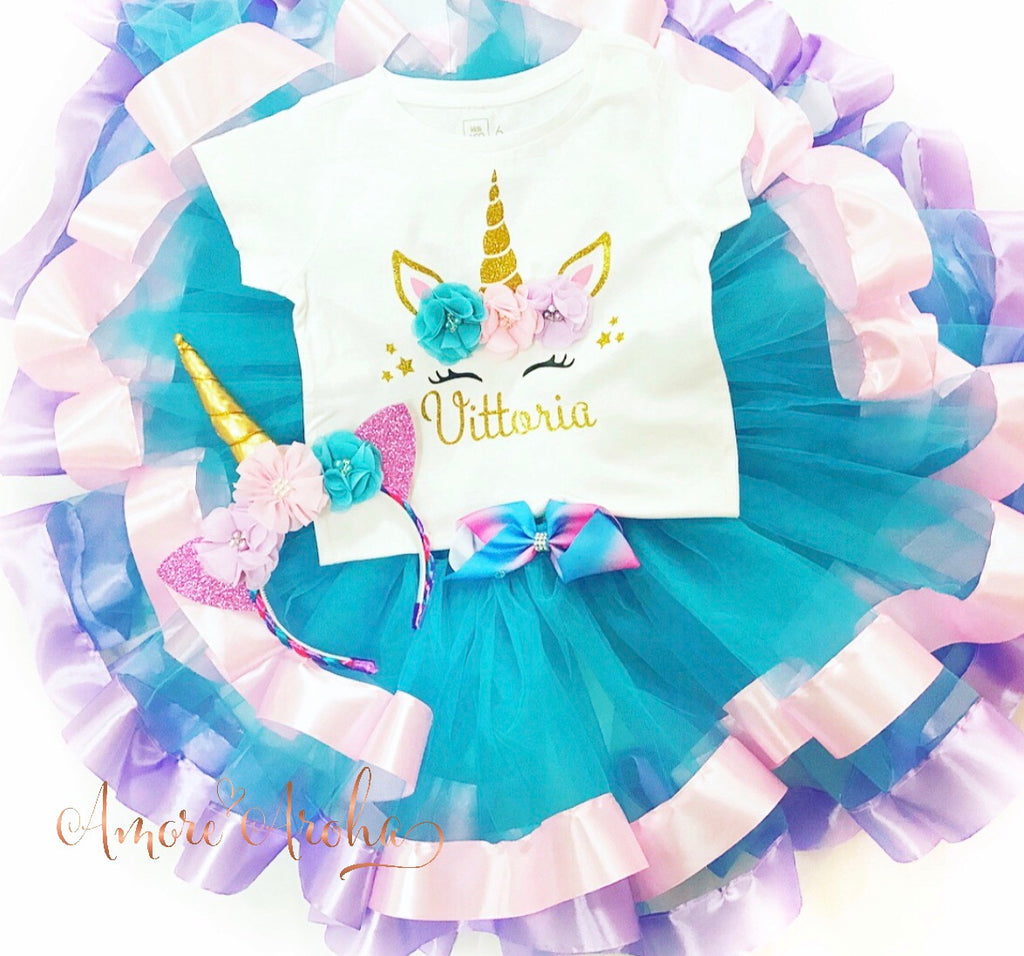Satin Trimmed Unicorn Tutu