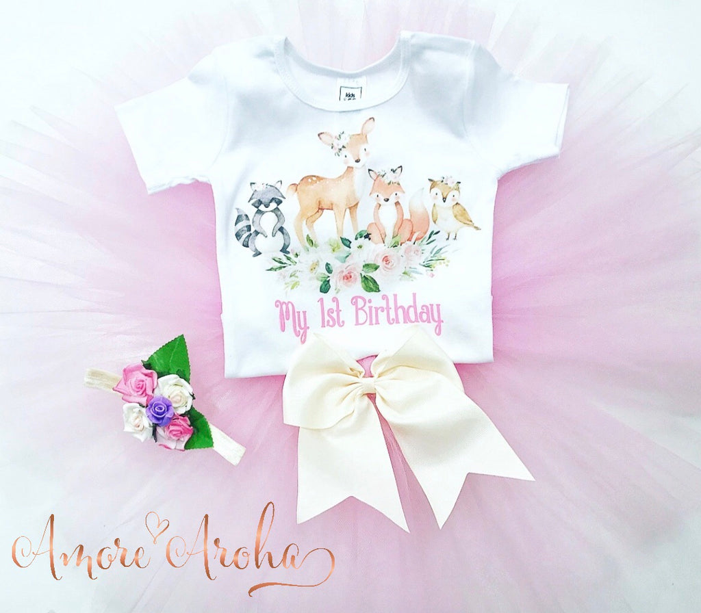Birthday Tutu Set - Woodland Theme