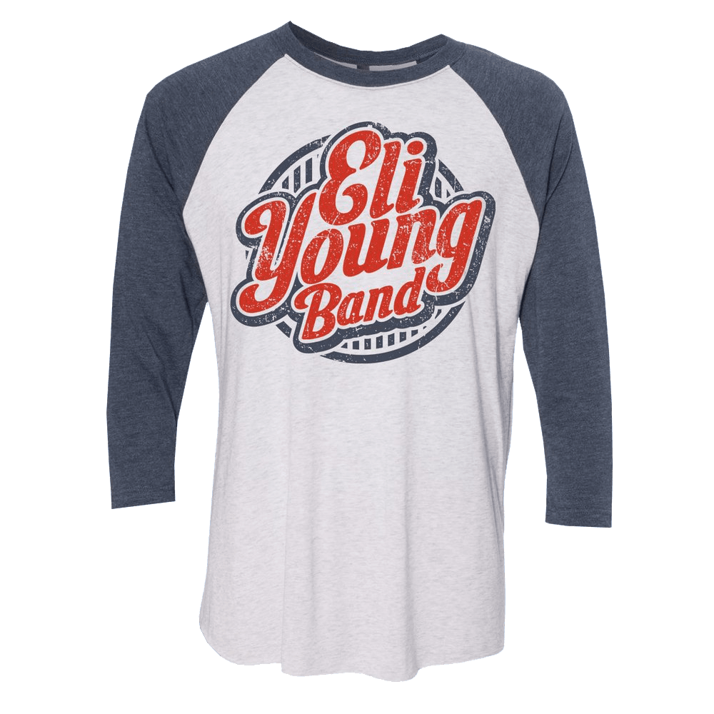 White & Navy Crazy Girl 2018 Raglan