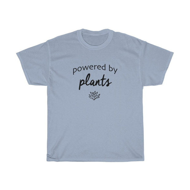 Powered by Plants Tee T-Shirt Printify Light Blue S