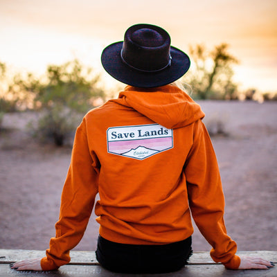 Established 2020 Hoodie (Back Print) 18500 Lands Texas Orange S