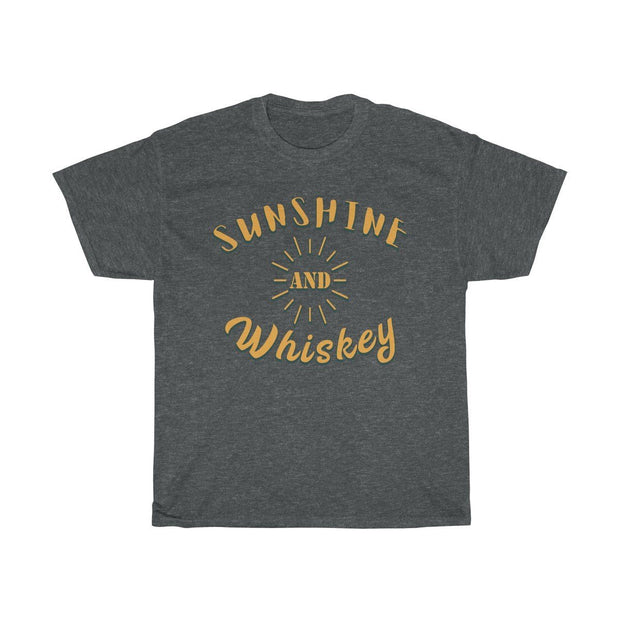 Sunshine & Whiskey Tee T-Shirt Printify Dark Heather S