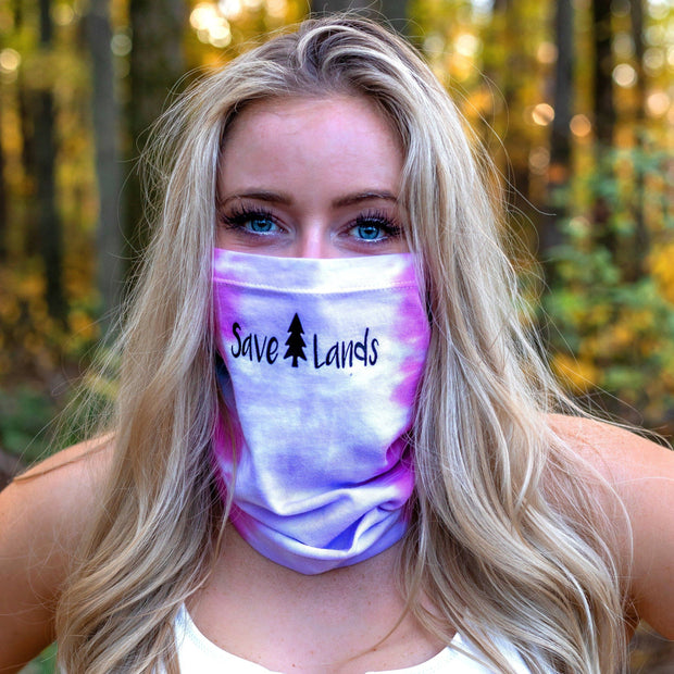 Simple Black Logo Cotton Candy Tie Dye Gaiter Face Mask 9411 - ETERNITY Lands