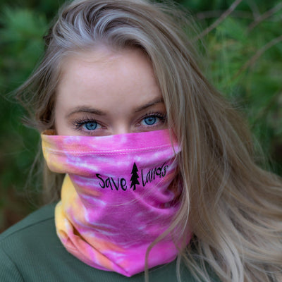 Simple Black Logo Eternity Tie Dye Gaiter Face Mask 9411 - ETERNITY Lands