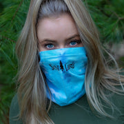 Simple Black Logo Lagoon Tie Dye Gaiter Face Mask 9411 - LAGOON Lands