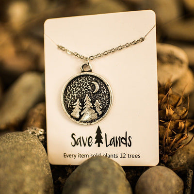 Nighttime Forest Necklace Jewelry Lands