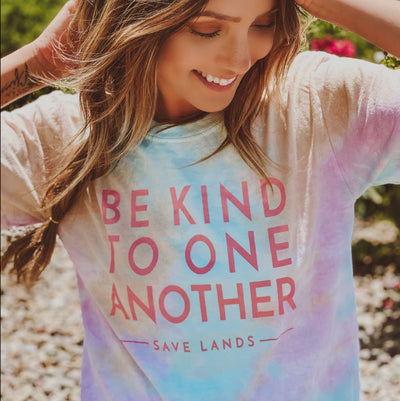 Be Kind to One Another Snow Cone Tie Dye Tee 1000 SNOW CONE Lands S