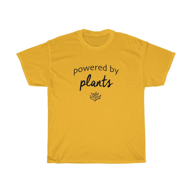 Powered by Plants Tee T-Shirt Printify Gold S