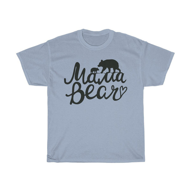 Mama Bear Tee T-Shirt Printify Light Blue S