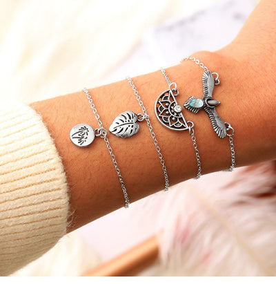 Boho Bird Bracelet Set Lands