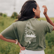 Tree Scene (Back Print) Tee 5000 Lands S Military Green