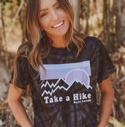 Take a Hike Black Tie Dye Tee 1000 BLACK SPIDER Lands S
