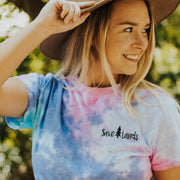Simple Black Badge Cotton Candy Tie Dye Tee 1000 - COTTON CANDY Lands