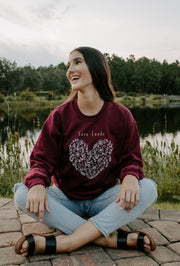 Botanical Heart Crewneck 18000 Lands