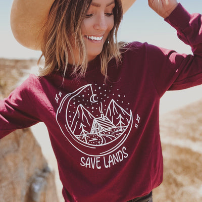 Cabin Long Sleeve 2400 Lands Maroon S