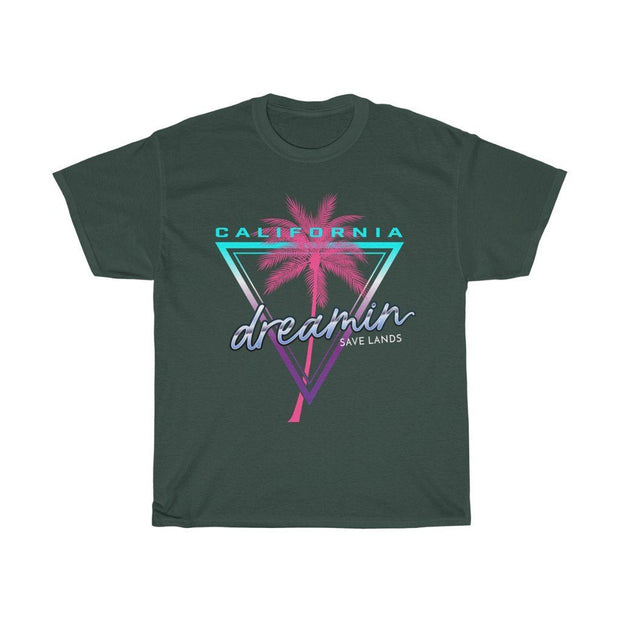 California Dreamin' Tee T-Shirt Printify Forest Green S