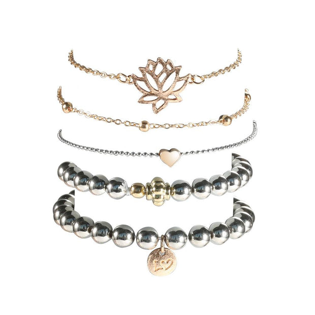 Heart Of Rose Bracelet Set Lands