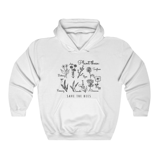 Plant These Hoodie Hoodie Printify White S