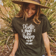 Plants Make Me Happy Tee 5000 Lands Forest Green S