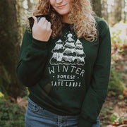 Winter Forest Crewneck Sweatshirt Sweatshirt Lands Forest Green L