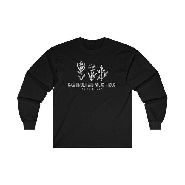 Grow Through Long Sleeve Long-sleeve Printify L Black
