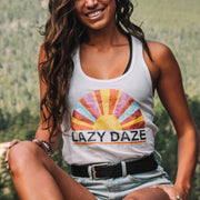 Lazy Daze Racerback Tank 1533 Lands White S
