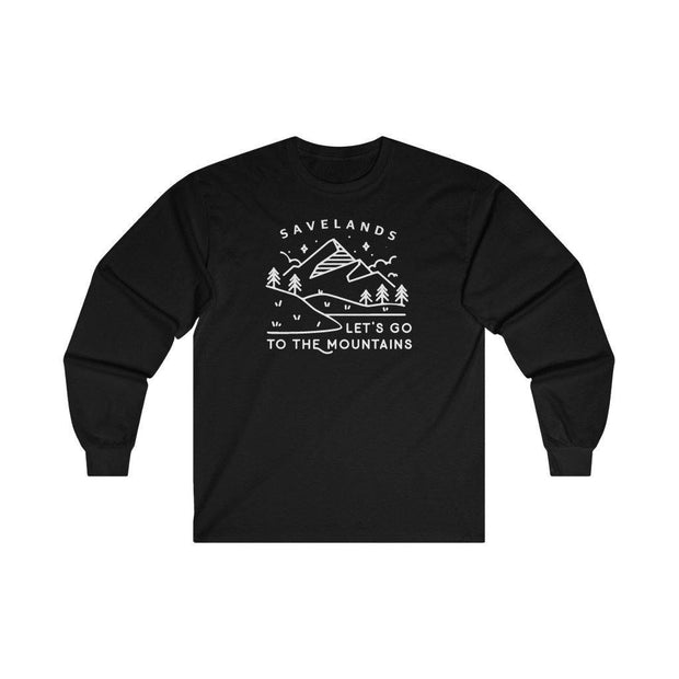 Let's Go to the Mountains Long Sleeve 2400 Lands L Black