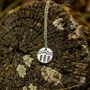 Landscape Coin Necklace Jewelry Lands