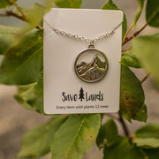 Silver Mountains Necklace Jewelry Lands