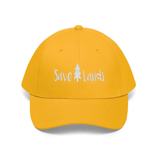 Save Lands Modern Hat (White Text)