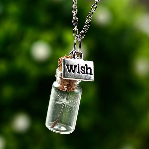 Wish Dandelion Jar Necklace Lands