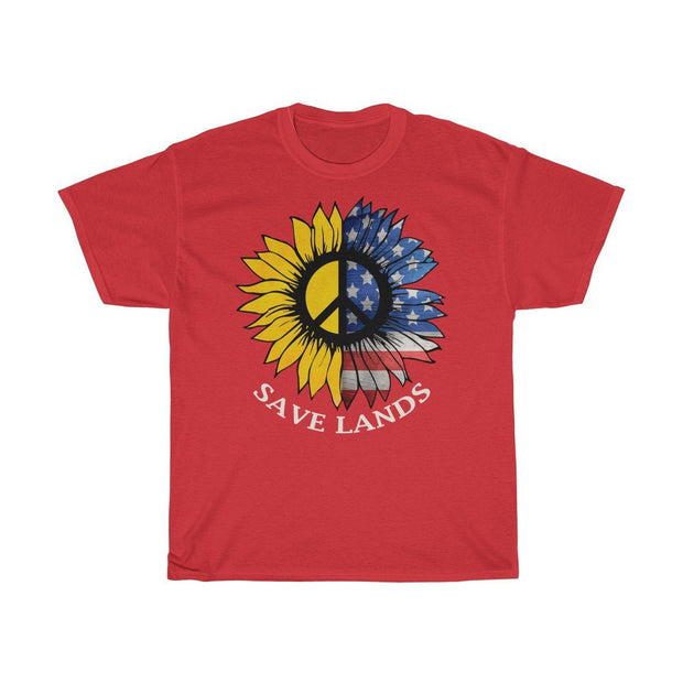 American Sunflower Tee T-Shirt Printify Red S